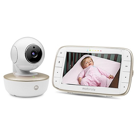 motorola mbp855connect 5 inch wi fi video baby monitor bed bath beyond. Black Bedroom Furniture Sets. Home Design Ideas