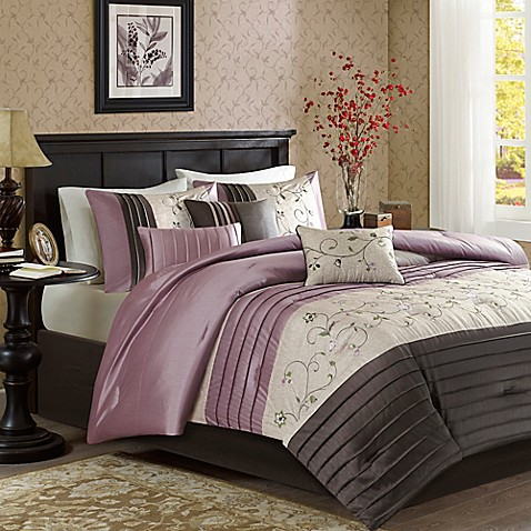 Buy Madison Park Serene 7 Piece King Comforter Set In