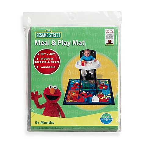 Neat Solutions 174 Sesame Street 174 Meal And Play Floor Mat