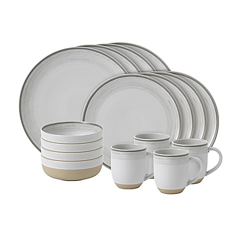 ED Ellen Degeneres Crafted By Royal Doulton® Brushed Glaze 16-Piece Dinnerware Set in White at Bed Bath & Beyond in Cypress, TX | Tuggl