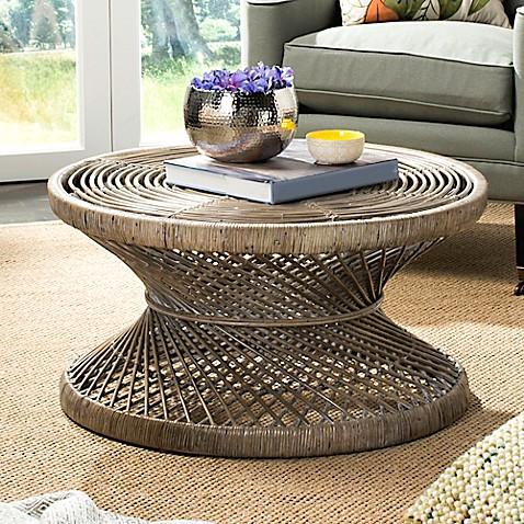 Buy Safavieh Grimson Large Bowed Coffee Table In Grey