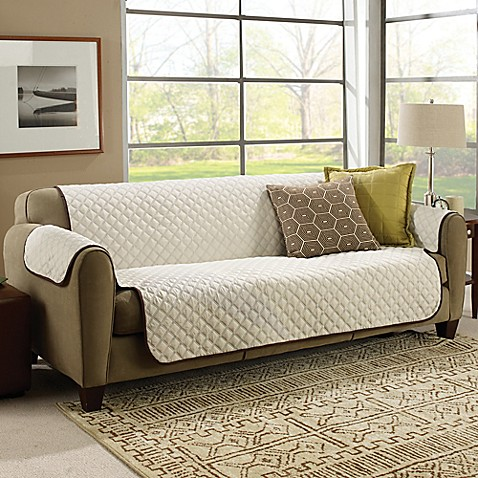 Couchcoat Furniture Cover In Brown Cream Bed Bath Amp Beyond