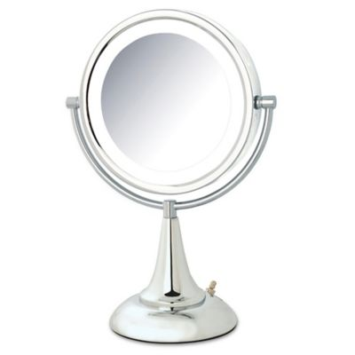 Buy Jerdon 1x/8x LED Tabletop Vanity Mirror in Chrome from Bed Bath & Beyond