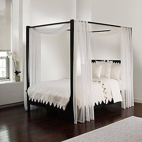 Scarf Sheet Bed Canopy Curtain In White by Bed Bath And Beyond