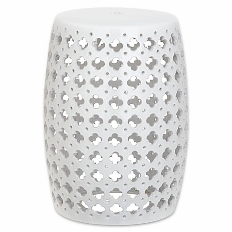 Buy Safavieh Lacey Garden Stool In White From Bed Bath