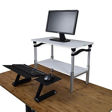 Buy Lift Standing Desk Conversion Kit In White From Bed