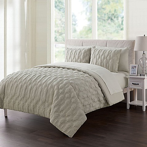 Vcny Home Atoll Embossed Comforter Set Bed Bath Amp Beyond