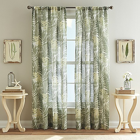 West Palm Poletop Curtain In Leaf Bed Bath Amp Beyond