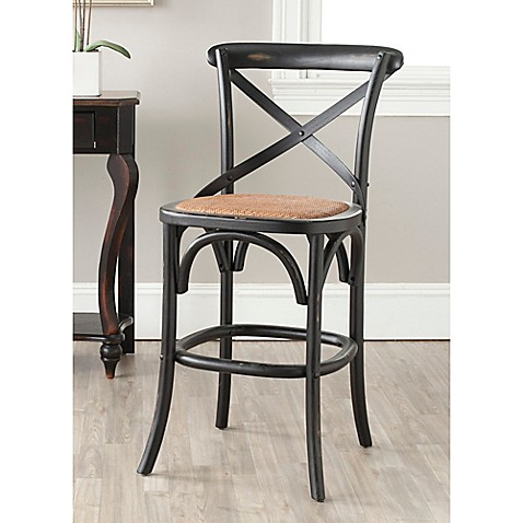 Buy Safavieh Franklin Counter Stool In Black From Bed Bath