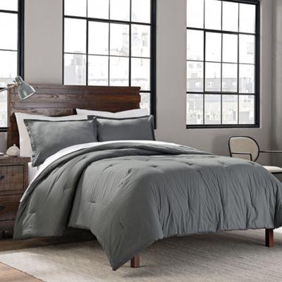 Garment Washed Solid Comforter Set Bed Bath Amp Beyond