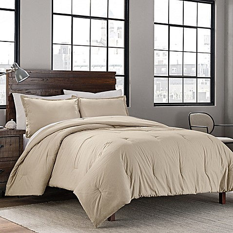 Garment Washed Solid Comforter Set | Tuggl