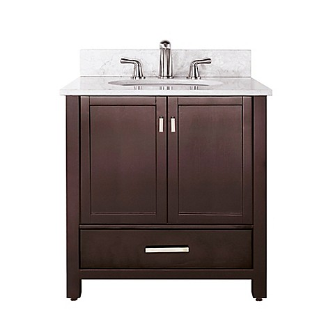 Avanity modero 37 inch vanity in espresso collection bed - Bed bath and beyond bathroom vanity ...