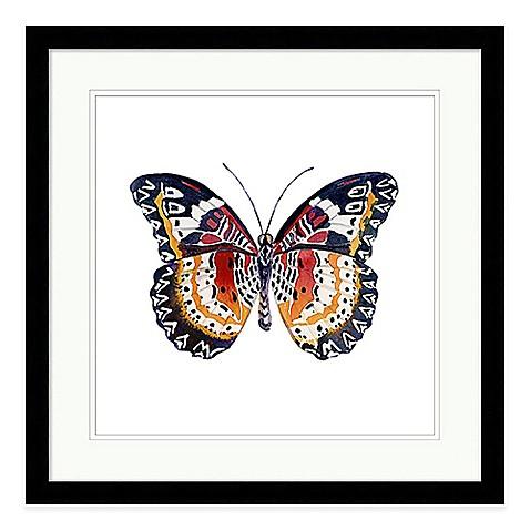 butterfly i extra large framed wall art bed bath beyond. Black Bedroom Furniture Sets. Home Design Ideas