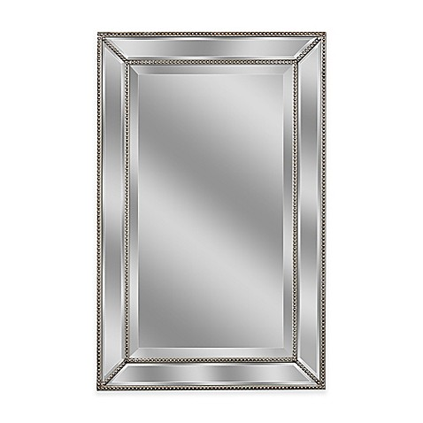 Buy Metro 20 Inch X 32 Inch Beaded Mirror In Silver From