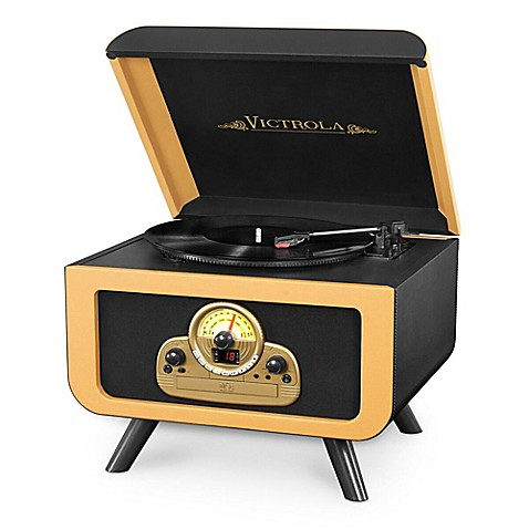 Victrola 5 In 1 Vintage Tabletop Record Player With
