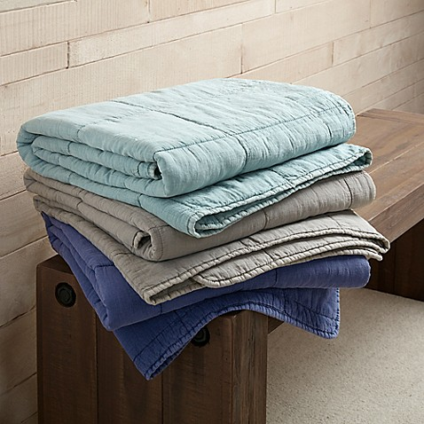 Ink Ivy Casper Cotton Quilted Throw Blanket Bed Bath