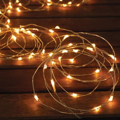String Lights In Bathroom : Solar-Powered 150-Bulb Micro LED String Lights - Bed Bath & Beyond