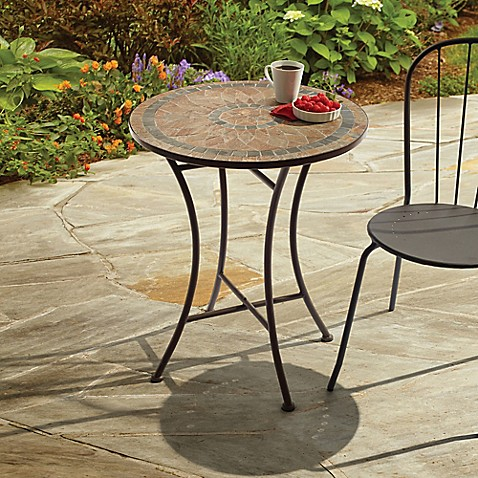 Outdoor Mosaic Stone Bistro Table Bed Bath Amp Beyond