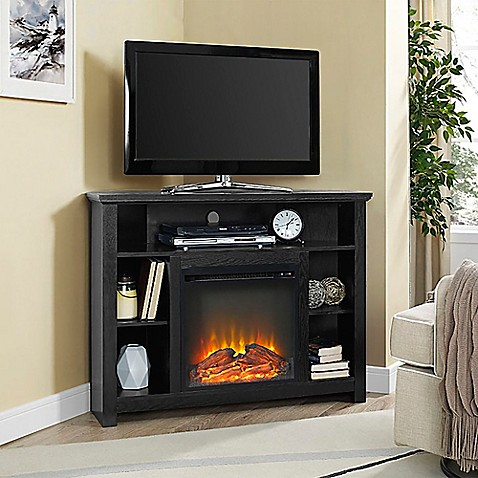 Buy Walker Edison 44 Inch Corner Highboy Fireplace TV
