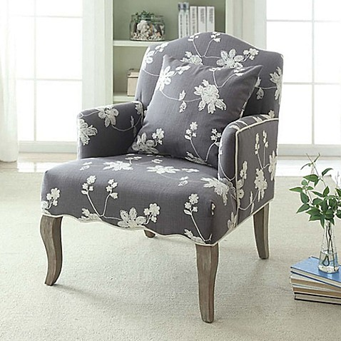Floral Linen Arm Chair in Grey Wash at Bed Bath & Beyond in Cypress, TX | Tuggl