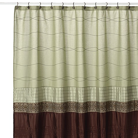 Buy Kas Romana 54 Inch W X 78 Inch L Fabric Stall Shower Curtain In Green From Bed Bath Beyond