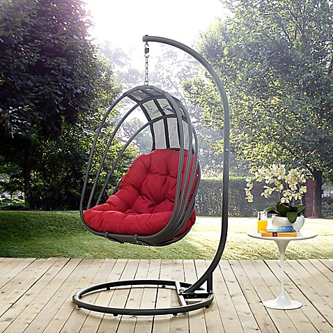 Modway Whisk Patio Stand Alone Swing Chair Bed Bath Amp Beyond