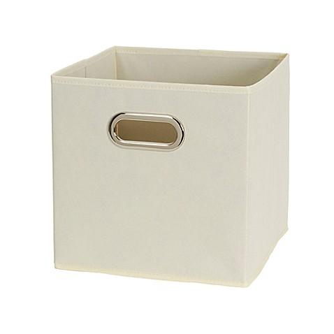 Buy household essentials fabric storage bins in beige for Beige bathroom bin