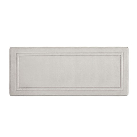 Smart Dry™ 24 Inch X 58 Inch Memory Foam Bath Runner In Chrome by Bed Bath And Beyond