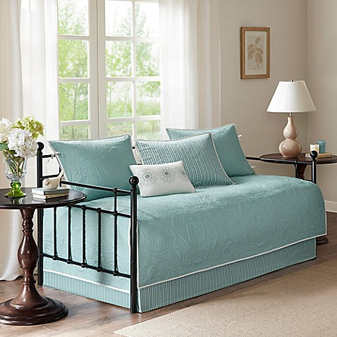 Madison Park Peyton Daybed Set In Blue Bed Bath Amp Beyond