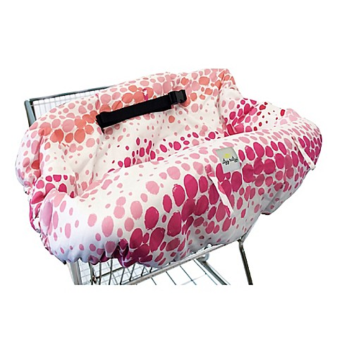 cart covers itzy ritzy ritzy sitzy shopping cart and high chair cover in pink ombre dot from. Black Bedroom Furniture Sets. Home Design Ideas