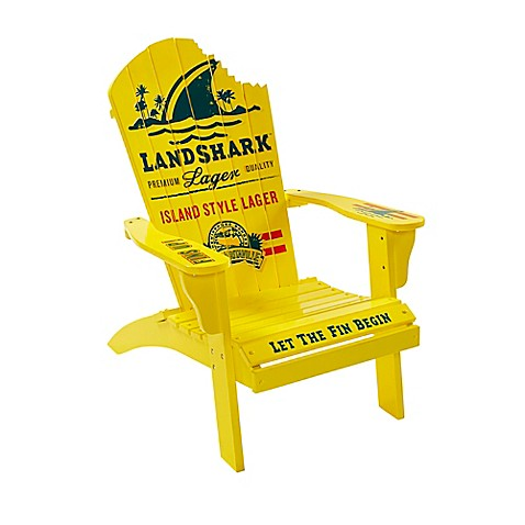 Margaritaville 174 Landshark Adirondack Chair In Yellow Bed