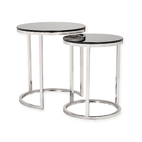 Buy zuo rem coffee table sets in black stainless from bed for Buy black coffee table