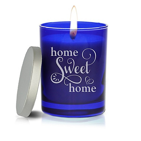 Carved Solutions Gem Collection Unscented Home Sweet Home Soy Wax Candle | Tuggl