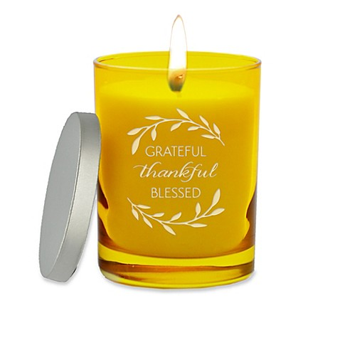 Carved Solutions Gem Collection Unscented Thankful Grateful Soy Wax Candle at Bed Bath & Beyond in Cypress, TX | Tuggl