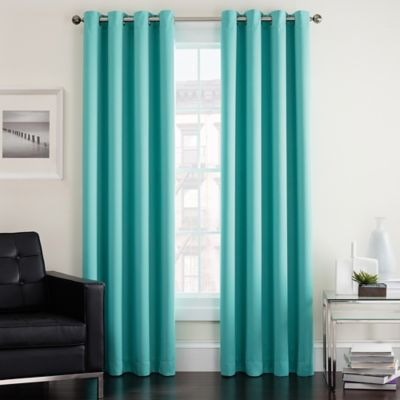 Twilight Room Darkening Grommet Window Curtain Panel Bed