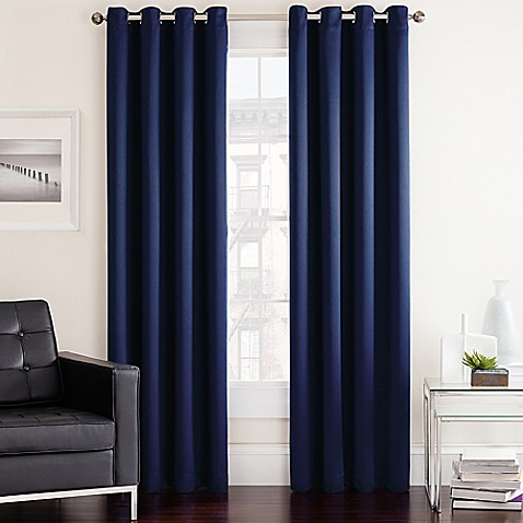Buy twilight 84 inch room darkening grommet top window Bed bath and beyond curtains for living room