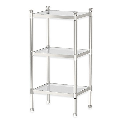 buy gatco taboret 3 tier glass and metal shelving unit in. Black Bedroom Furniture Sets. Home Design Ideas