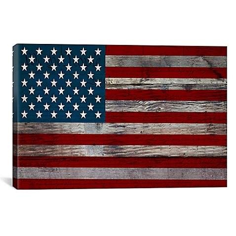 Us Constitution American Flag Canvas Wall Art Bed Bath