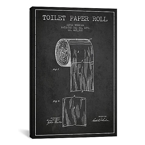 Buy toilet paper charcoal patent blueprint 12 inch x 18 for Buy blueprint paper