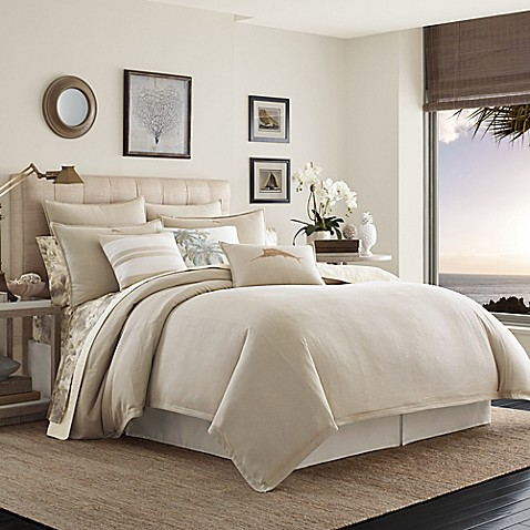 Tommy Bahama 174 Shoreline Comforter Set In Light Brown Bed