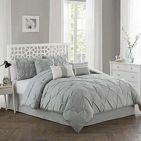pom pom 7 piece comforter set bed bath beyond. Black Bedroom Furniture Sets. Home Design Ideas