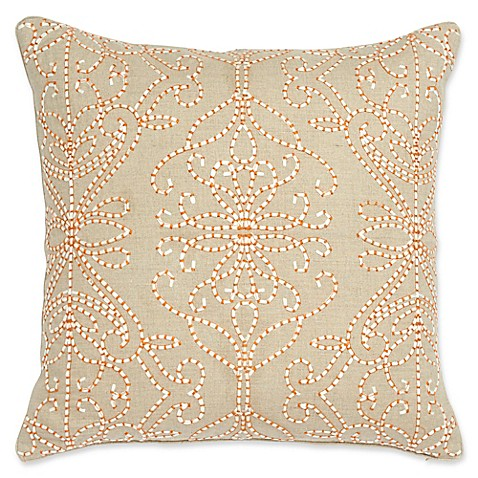 Harlequin Amazilia Quilted Square Throw Pillow In Bone