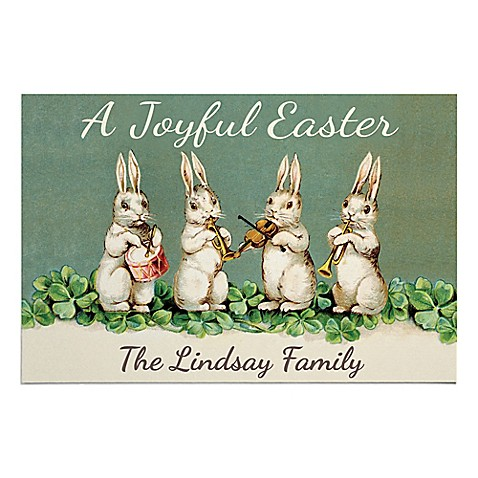 """""""A Joyful Easter"""" 27-Inch x 18-Inch Door Mat in Green at Bed Bath & Beyond in Cypress, TX   Tuggl"""
