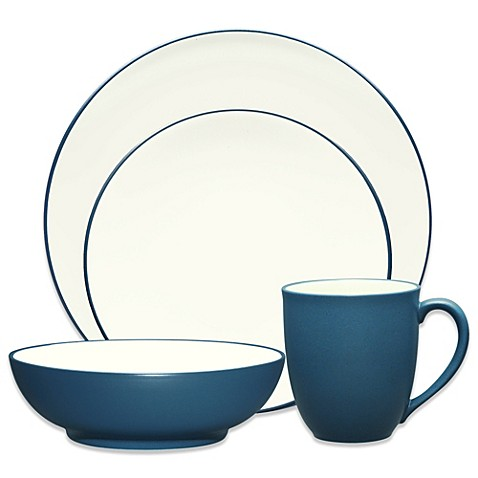Noritake® Colorwave Coupe Dinnerware Collection in Blue at Bed Bath & Beyond in Cypress, TX   Tuggl