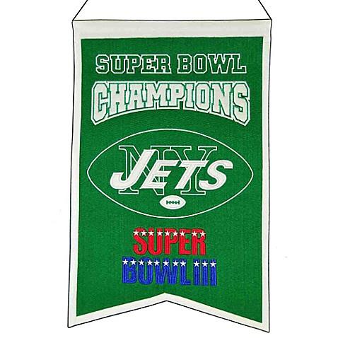 Nfl New York Jets Super Bowl Championship Banner Bed