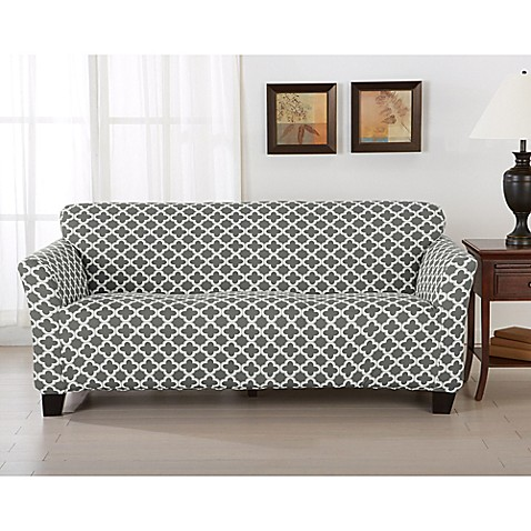 Great Bay Home Brenna Strapless Sofa Slipcover Bed Bath