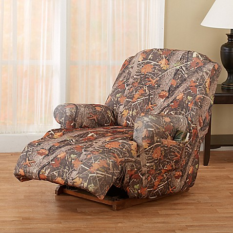 Great Bay Home Kings Strapless Slipcover Recliner In Camo