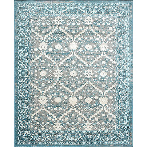 Buy Bardot 8 Foot X 10 Foot Area Rug In Grey Turquoise