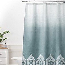 Deny Designs Dash and Ash Morning Fog Shower Curtain in Blue