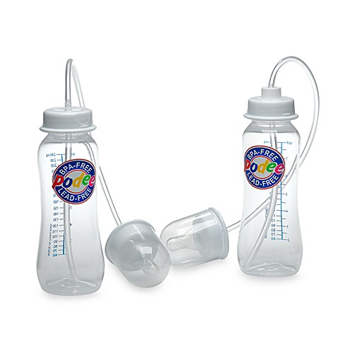 Podee 174 Hands Free 2 Pack 8 Oz Baby Bottle System Bed